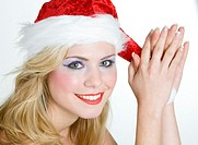 woman´´s portrait - Santa Claus