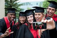 Graduates taking picture