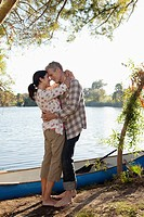 Couple near lake (thumbnail)