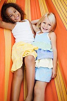 Girls hanging out in hammock