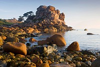 Rock formations on the Cote de Granit Rose, France