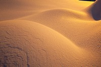 Sunrise on snowdrifts at Mount Hood