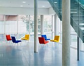 Office lobby with colorful chairs