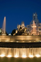 Cibeles Fountain and Palacio de Comunicaciones, Madrid, Spain