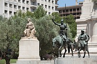 Cervantes Monument, Plaza de Espana, Madrid, Spain