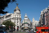 Grand Via, Edificio Metropolis Building, Madrid, Spain