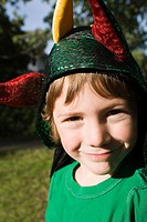 Boy dressed as jester