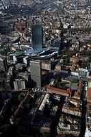 Italy, Lombardy, Milan, the Palazzo della Regione, aerial view...