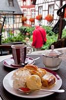 Germany, Rhineland_Palatinate, Beilstein town, apple strudel...