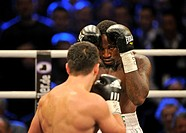 Boxing world championship fight, Marco HUCK, GER, vs. Ola Afolabi, GBR, WBO cruiserweight, Neue Arena Ludwigsburg, Baden-Wuerttemberg, Germany, Europe