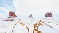 winter The Mittens and Merrick Butte, Monument Valley National Park, Utah-Arizona, USA
