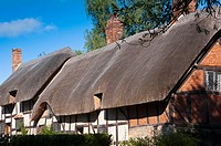 Anne Hathaway's cottage home, wife of William Shakespeare, in Stratford upon Avon Warwickshire  UK