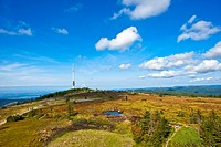 Hornisgrinde mountain with Deutsche Telekom telecommunication tower, Black Forest, Baden-Wuerttemberg, Germany, Europe