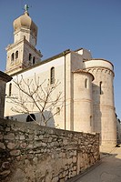 St. Mary´s Cathedral in the city of Krk, Croatia, Europe