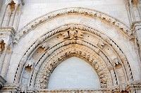 West facade of the Cathedral of St. James in Sibenik, Croatia, Europe
