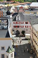 Mittertor, Pedestrian Precinct, Rosenheim, Bavaria, Germany