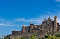 La Cité, Carcassonne medieval fortified town, Aude, Languedoc-Roussillon, France, Europe