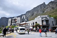 Base station of the cable car to Table Mountain, Cape Town, South Africa, Africa