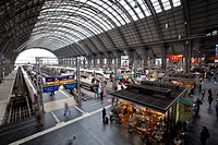 Frankfurt central railway station, Frankfurt am Main, Hesse, Germany, Europe