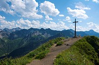 Summit of Fellhorn Mountain, Oberstdorf, Allgaeu, Bavaria, Germany, Europe