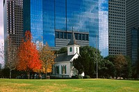 St John Church 1891 Sam Houston Park Historic Downtown Houston Texas USA Large Format Original Image