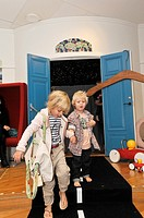 Catwalk fashion show for kids clothing. Stockholm, Sweden
