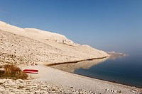 Rucica bay at Metajna, Pag island, Dalmatia, Adriatic Sea, Croatia, Europe