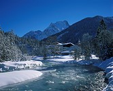 Hinterriss, Risstal valley, Karwendel mountains, Tyrol, Austria