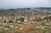Colony of rough huts, township of the black citizens of Sabie, South Africa, Africa