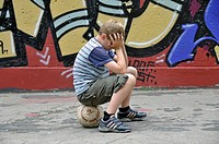 Child playing ball
