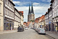 Poelkenstrasse, a street in Quedlinburg, Saxony_Anhalt, Germany, Europe