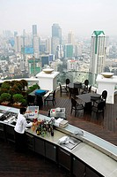Sirocco bar restaurant, Sky Bar at the Dome, State Tower, Bangrak, Bang Rak district, Bangkok, Krung Thep, Thailand, Asia