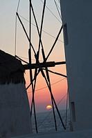 Windmills, Mykonos, Cyclades Islands, Greece, Europe