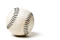 An isolated shot of a baseball ball