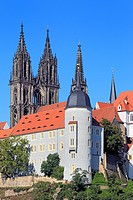 Germany, German, Europe, European, Western Europe, Architecture, building, City, town, house, houses, Church, Meissen, Saxony, Albrechtsburg, Cathedra...