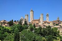 Cityscape of San Gimignano, San Gimignano, Siena, Tuscany, Italy