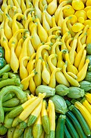 Organic squash at Farmers´ Market, Arcata, California