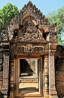 Cambodia, Siem Reap, Angkor classified World Heritage by UNESCO, the temple of Banteay Srei said the citadel of women, one of the oldest temples of An...