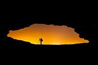 La Ojerada cave, Ajo coast, Cantabrian Sea, Cantabria, Spain, Europe