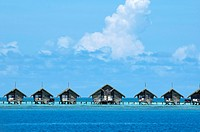 Resort bungalows over sea, Maldives