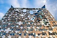 The newly built 'The Cube' building, in Birmingham, UK