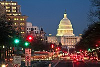United States, Washington, District of Columbia, US Capitol Building from Pennsylvania Ave