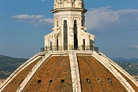 The dome of the cathedral or Duomo from the campanile