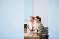 Businesswoman sitting together in conference room