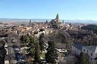 Panramica view of Segovia, Spain