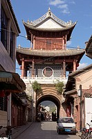Traditional architecture china, Weishan, Dali Bai Autonomous Prefecture, Yunnan, China