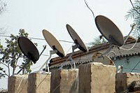 TV receivers, Rayagada village, Orissa, India