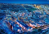 Alcazaba and neighborhood of the Chanca Almeria Andalucia, Spain