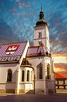 Late Gothic church of St  Mark´s Church Crkva sv  Marka , Zagreb, Croatia