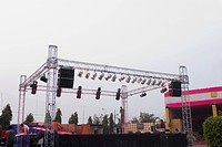 Lighting equipment on a stage in a wedding